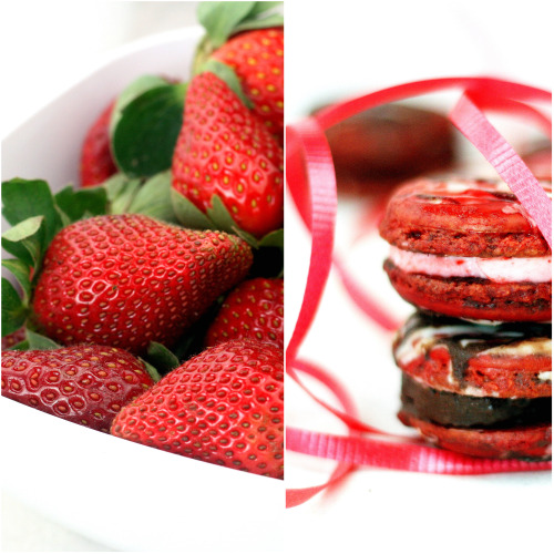 Chocolate Dipped Strawberry Macarons - parsley sage sweetparsley sage ...