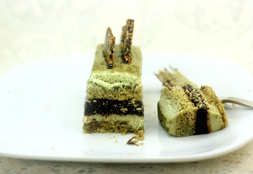 Matcha Pistachio Chocolate Sesame Mousse Cakes - parsley sage ...