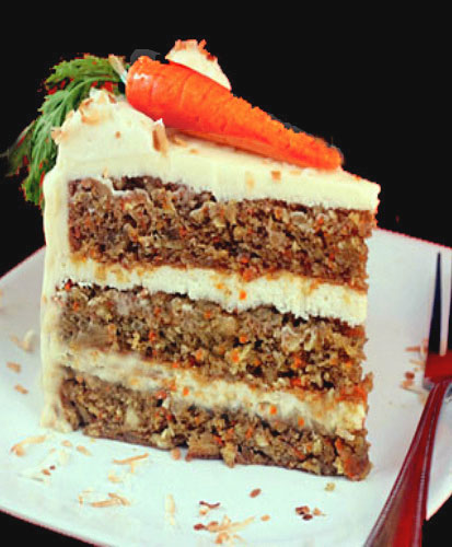 tropical carrot cake with coconut cream cheese frosting coconut cream ...