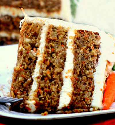 Banana Carrot Cake with Cream of Coconut - Cream Cheese Frosting ...