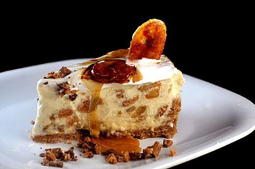 Caramelized Banana Pudding Cheesecake with Salted Cashew Praline ...