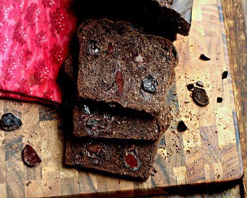 Black Forest Drunkin Cherry Dark Chocolate Lump Bread For